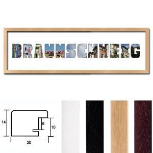"""Regiorahmen """"Braunschweig"""" mit Passepartout"""