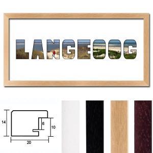 """Regiorahmen """"Langeoog"""" mit Passepartout"""