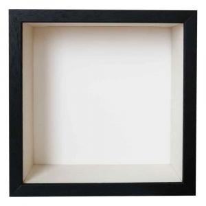 Spardosenrahmen mit Druck selber gestalten Schwarz mit weißer Box