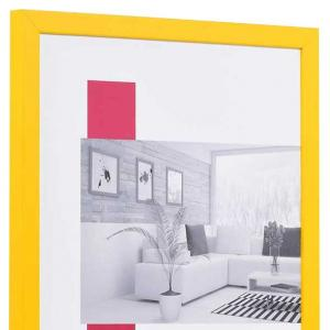 Holzrahmen Top Cube gelb