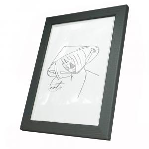 Holz-Bilderrahmen Max Grau