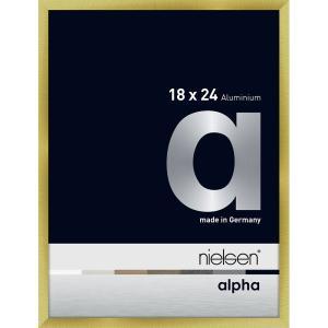 Alurahmen Alpha Brushed Gold 18x24 cm
