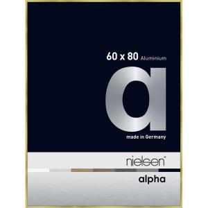 Alurahmen Alpha Brushed Gold 60x80 cm