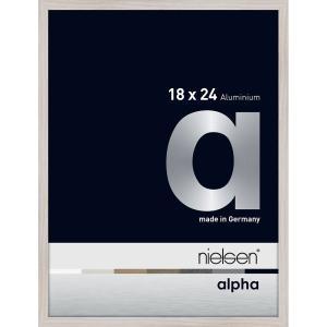Alurahmen Alpha Eiche weiß (furnierte Oberfläche) 18x24 cm