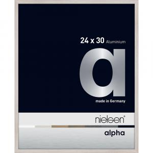 Alurahmen Alpha Eiche weiß (furnierte Oberfläche) 24x30 cm