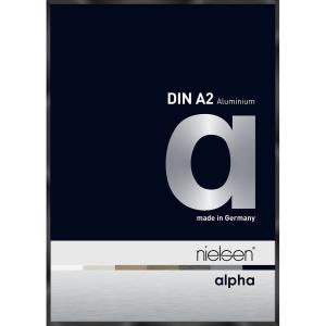 Alurahmen Alpha Schwarz glanz eloxiert 42x59,4 cm (A2)