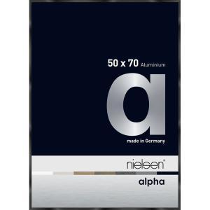 Alurahmen Alpha Schwarz glanz eloxiert 50x70 cm