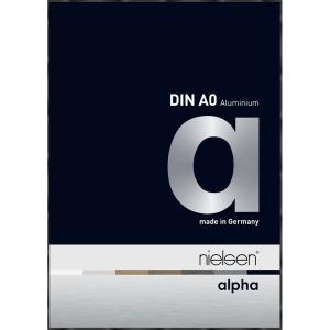 Alurahmen Alpha Schwarz glanz eloxiert 84,1x118,9 cm (A0)