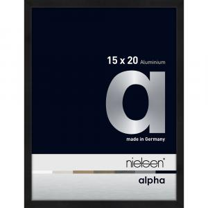 Alurahmen Alpha Schwarz matt eloxiert 15x20 cm
