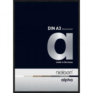 Alurahmen Alpha Schwarz matt eloxiert 29,7x42 cm (A3)