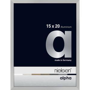 Alurahmen Alpha Silber matt 15x20 cm