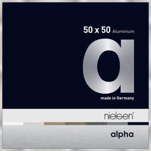 Alurahmen Alpha Silber 50x50 cm