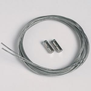 2 Stück Stahlseile 1,3mm/200cm mit Schraubgleitern