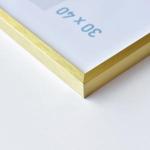 Alurahmen C2 Struktur Gold matt