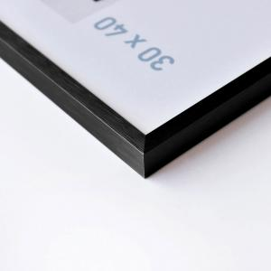 Alurahmen C2 Struktur Schwarz matt