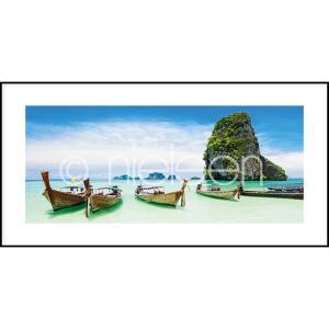 "Gerahmte Kunst ""Exotic Island"" mit Alurahmen C2"