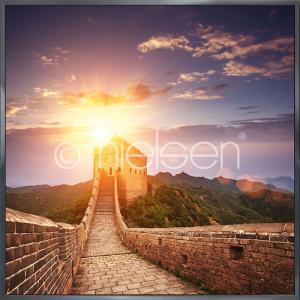 "Gerahmtes Bild ""Chinese Wall"" mit Alurahmen Alpha"