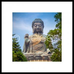 Buddhastatue im Alurahmen C2