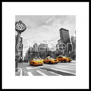 New York Taxis im Alurahmen C2