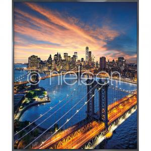 "Gerahmte Kunst ""New York City Sunset"" mit Alurahmen Alpha"