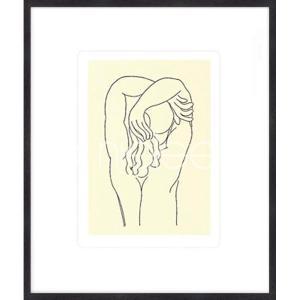 """Gerahmte Kunst """"Hommage 1932 von Matisse"""" mit Holzrahmen Quadrum"""