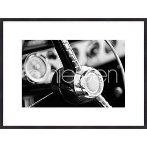 """Gerahmte Kunst """"Interior of Classic Car"""" mit Holzrahmen Quadrum"""