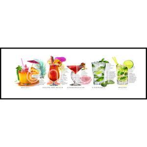 """Gerahmtes Bild """"Cocktails"""" mit Alurahmen C2"""