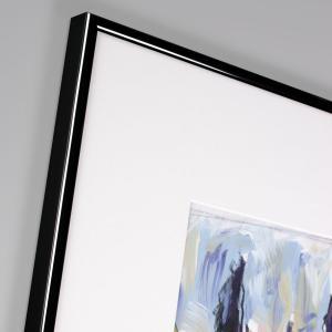 Alurahmen Profil R schwarz glänzend