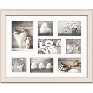 Galerie-Bilderrahmen MALMO für 8 Bilder beige