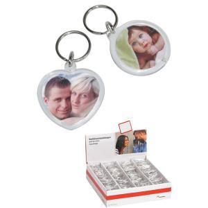 Acryl Herz und Kreis-Schlüsselanhänger