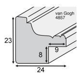 Thumbnail von Holz-Bilderrahmen Van Gogh 2,4 - Sonderzuschnitt Profil