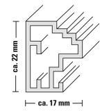 Profil von Kunststoffrahmen Livelli