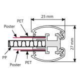 Thumbnail von Doppelseitiger Klapprahmen 25 mm Gehrung Profil