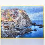 Thumbnail von Kunststoff-Puzzlerahmen für 100 bis 500 Teile gelb Bild 3