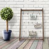 Thumbnail von Bildhalter aus braunem Holz mit Wäscheklammern Bild 4