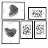 Thumbnail von Bilderwand mit 5 schwarzen Rahmen Bild 5