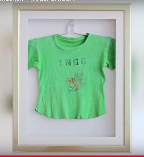 T-Shirt eingerahmt