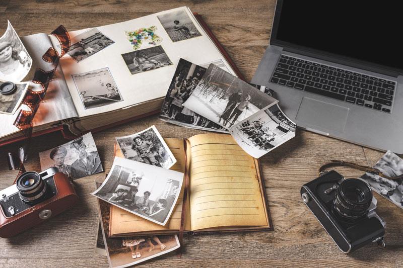 Einmalige Schwarz-Weiß-Bilder aufbewahren