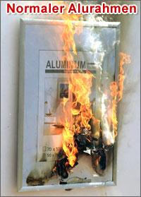 Herkömmlicher Aluminiumrahmen