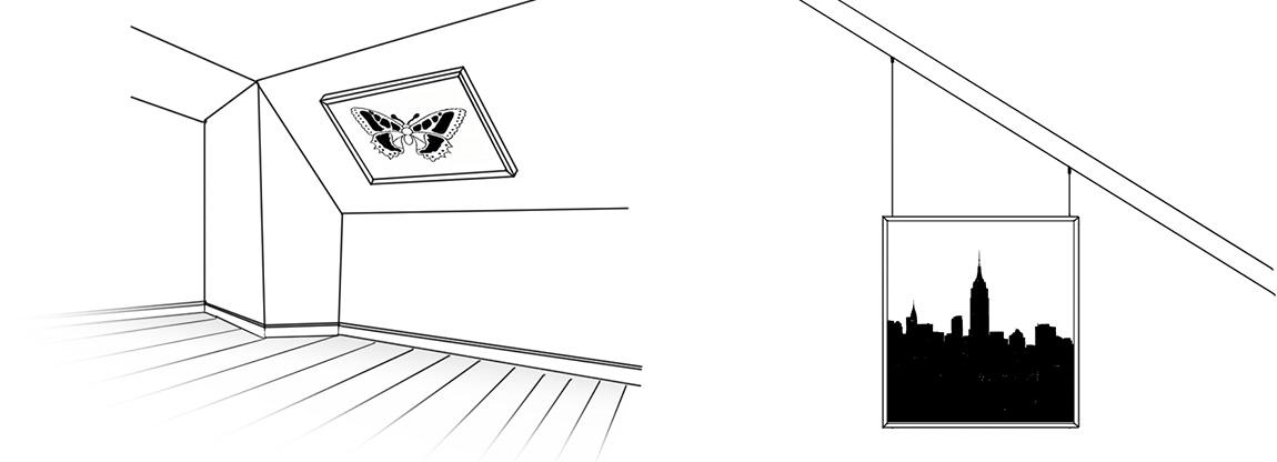 Bilderrahmen An Dachschragen Aufhangen