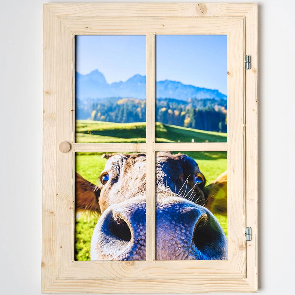 Dekofenster - mit Kuhmotiv | AllesRahmen.de
