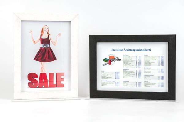 Doppelglas Bilderrahmen mit Tischaufsteller