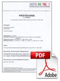Zertifikat f�r feuerfesten Bilderrahmen