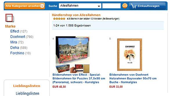 Amazon Bilderrahmen