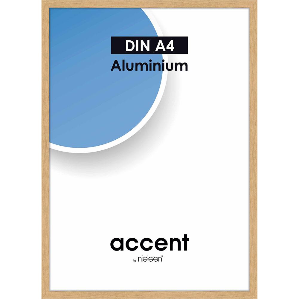 Aluminium Bilderrahmen Duo Eiche 21x29,7 cm (A4)