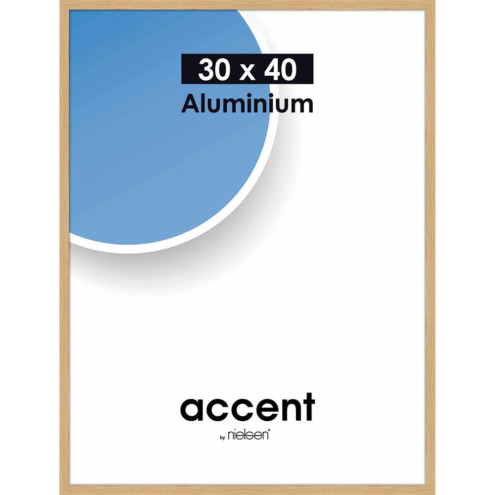 Aluminium Bilderrahmen Duo Eiche 30x40 cm