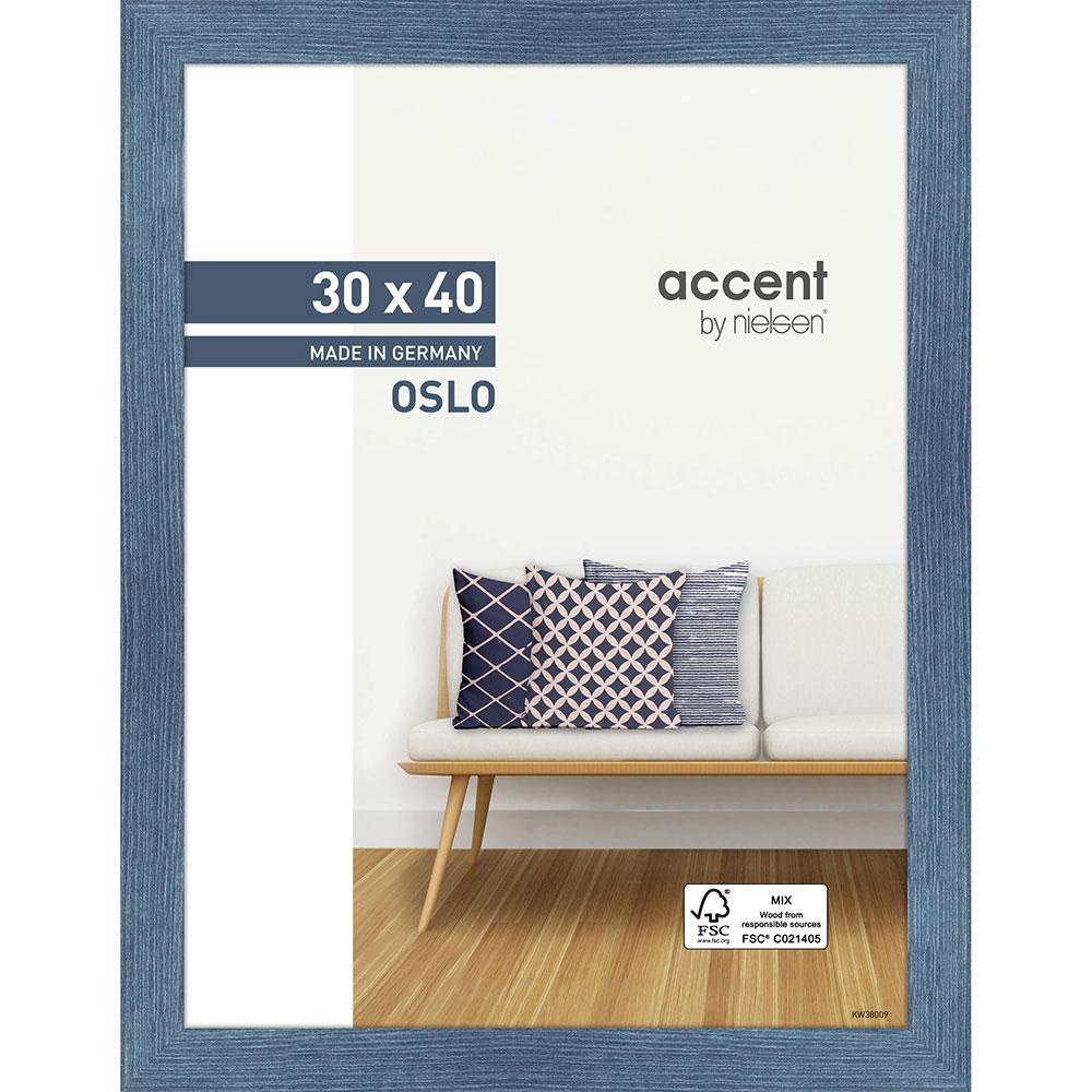 Holz Bilderrahmen Oslo Blau 30x40 cm