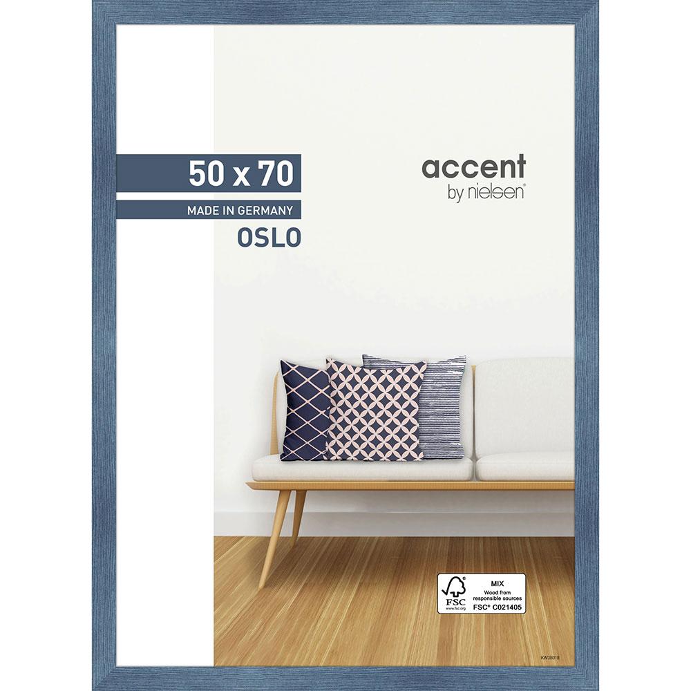 Holz Bilderrahmen Oslo Blau 50x70 cm