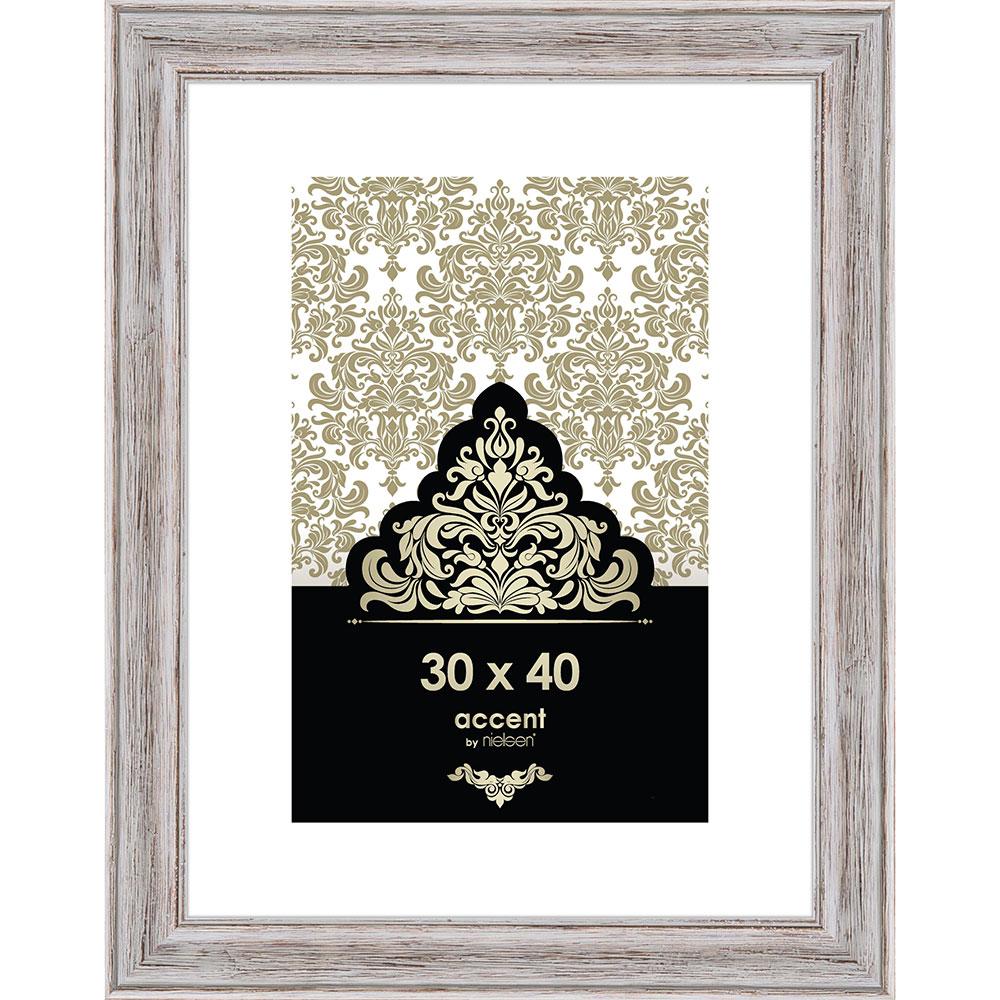 Holz-Bilderrahmen Vintage Weiß 30x40 cm