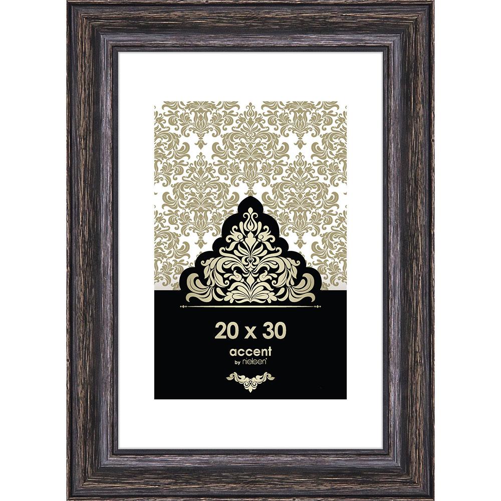Holz-Bilderrahmen Vintage Schwarz 20x30 cm